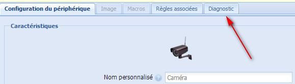 eeDomus - Diagnostic Caméra