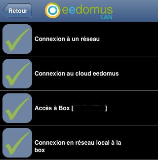 Capture d'écran diagnostic iOs