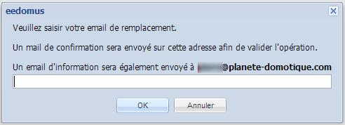 Changer e-mail