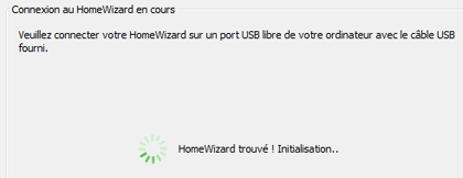 Application HomeWizard initialisation