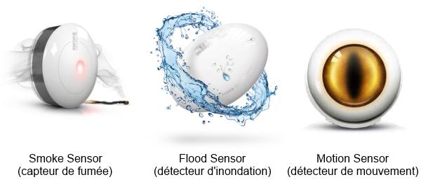 Derniers Produits Fibaro : Smoke Sensor, Flood Sensor, Motion Sensor