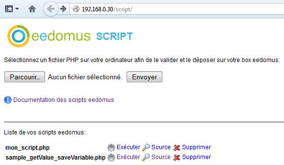 Brique scripts du SDK
