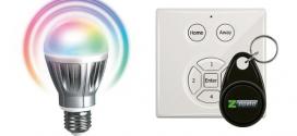 Une ampoule couleur pilotable et un clavier / lecteur de badge RFID