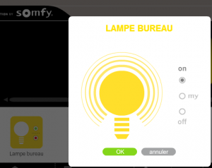 Somfy Box : contrôle d'un périphérique