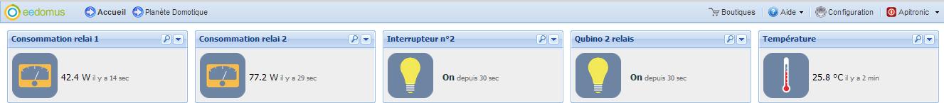 Integration eeDomus : blocs du Qubino 2 relais