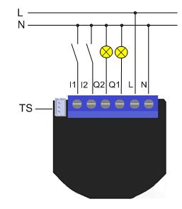 Schéma de connexion module Qubino
