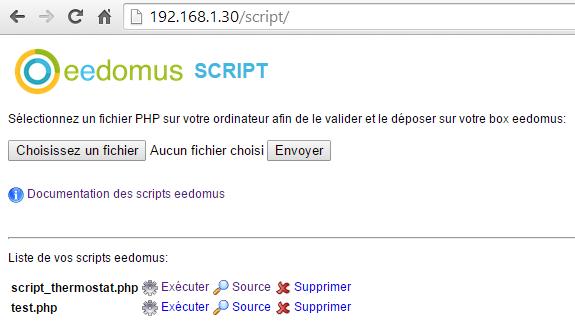 Script PHP eeDomus