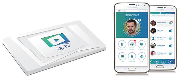 UPTV carte PCMCIA et téléphone
