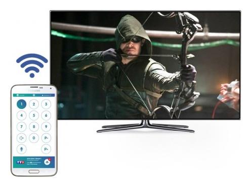 UPTV utilisée en tant que telecommande