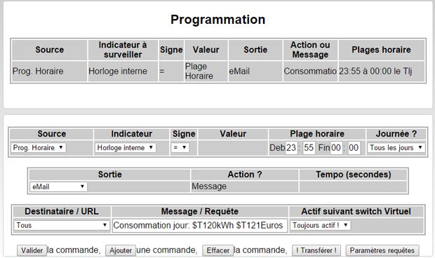 Programmation WES, maj 0.52