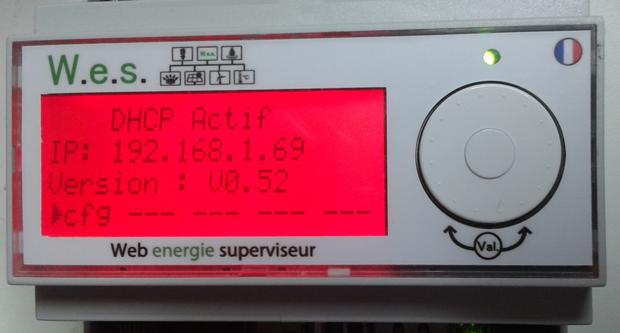 WES avec LCD en mode alarme