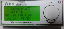 WES LCD : écran statut DHCP