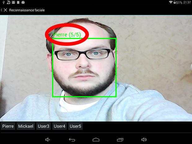 Zibase Multi reconnaissance faciale Pierre