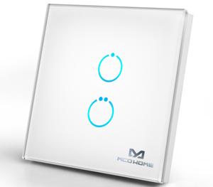 Actionneur Z-Wave avec surface tactile 2 boutons boîtier