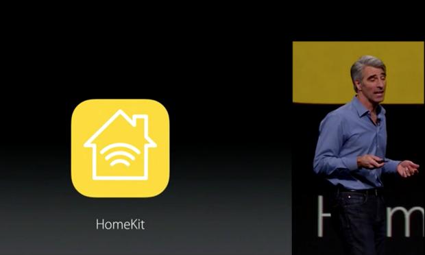 Craig Federighi, Vice-Président de l'Ingénierie Logicielle à Apple, évoquant HomeKit à la keynote WWDC de lundi dernier.