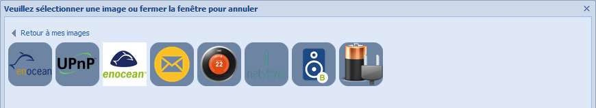 Choix d'icones partagées