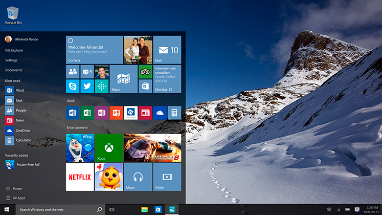 Windows 10 fait son entrée, avec de la domotique dans son ADN !