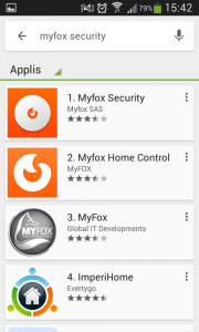 Installation MyFox Home Alarm : app