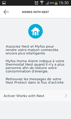 Ajout de thermostat Nest Home Alarm