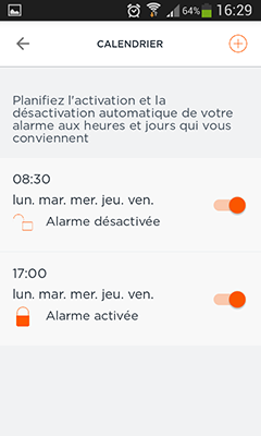 Home Alarm : planification