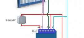 Schéma de branchement portail et détecteur d'ouverture