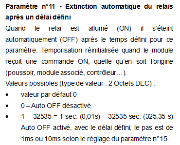 Paramétrage du Qubino 1 relais