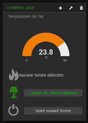Exemple de widget avec infos accumulées