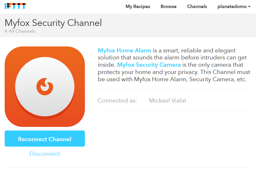 channel Myfox Security