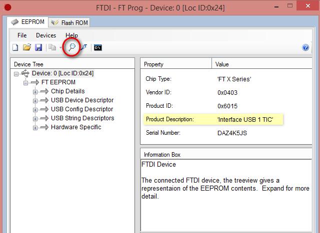 Changement du firmware sur le modem téléinfo