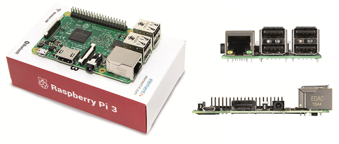 Raspberry Pi version 3 : différents angles de vue