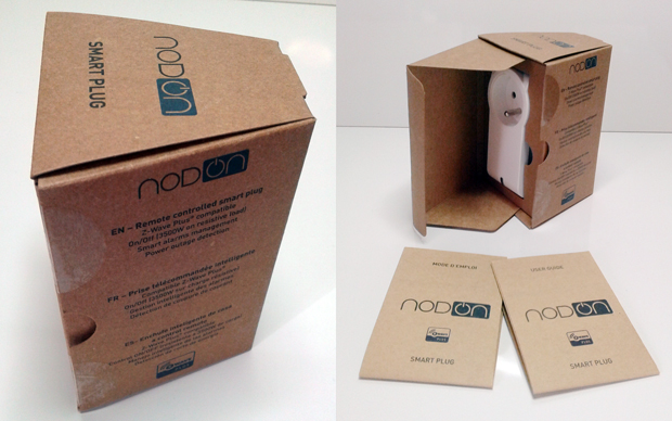 Packaging de la prise connectée NodOn Z-Wave Plus