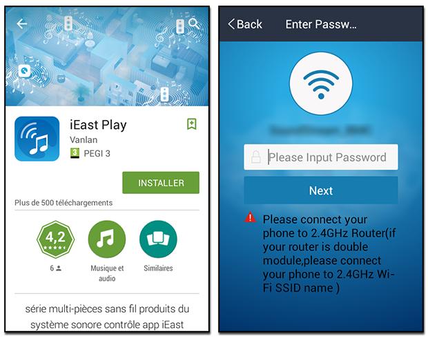 Sonoe screen app mobile et connexion WiFi