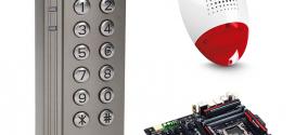Digicode avec lecteur de puces RFID avec retour d'état