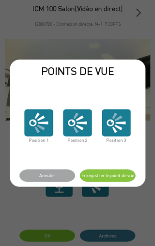 Application visidom : enregistrement de positions