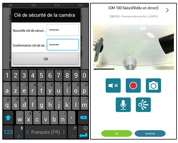 Application Somfy Visidom - vue d'une caméra