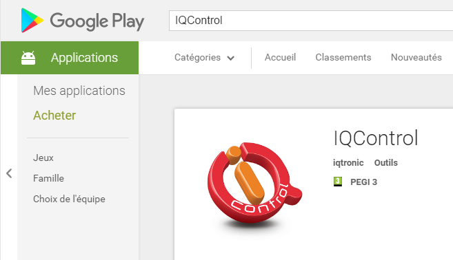 Téléchargement de IQControl sur Google Play