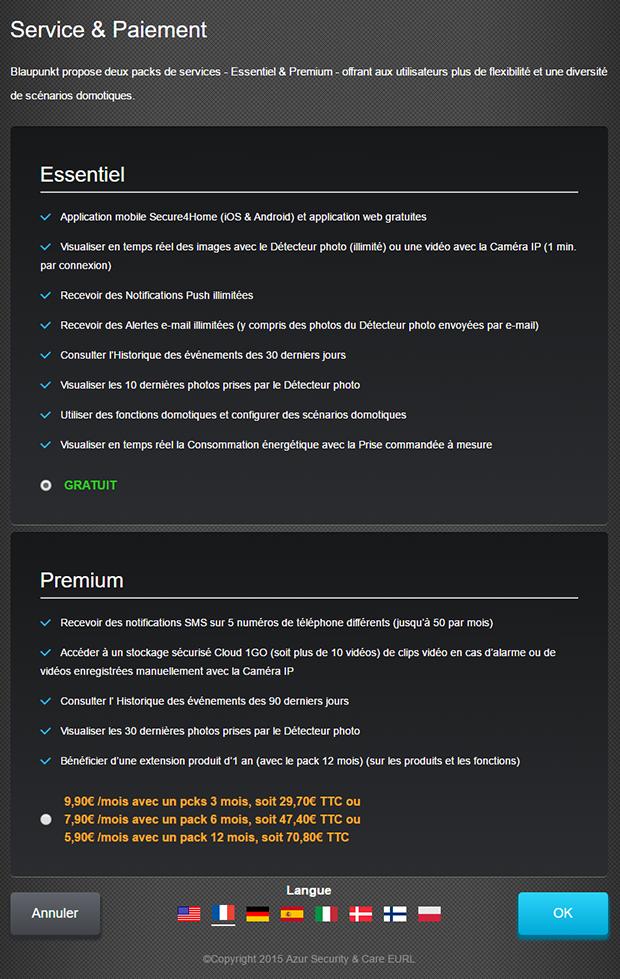 Blaupunkt Q3200 : offres d'abonnement