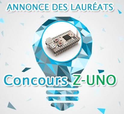 Annonce des lauréats du concours Z-UNO et suite