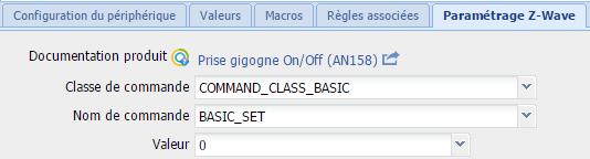Eedomus : command_class_basic