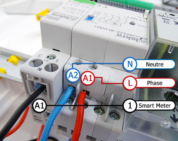 Smart Meter : connectique des modules DIN accessoires