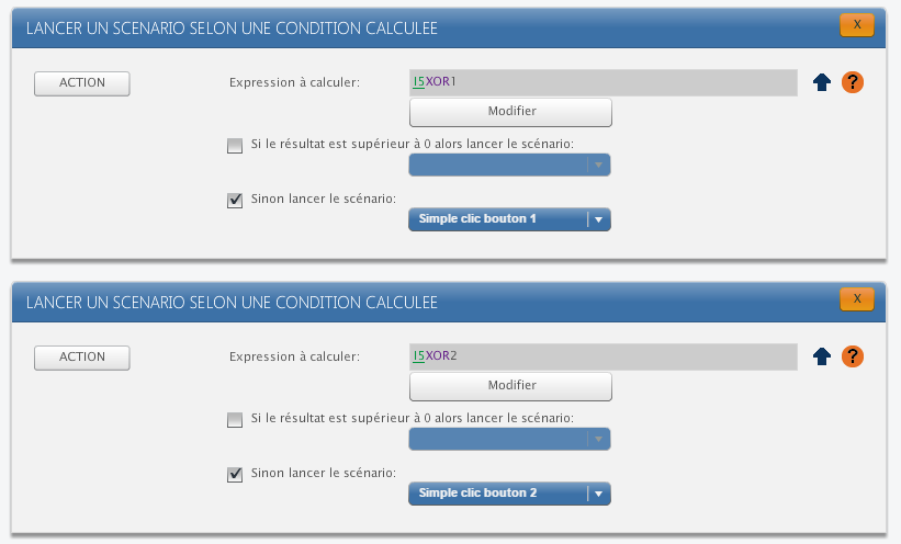 ZRC90 sur Zibase : conditions détection bouton
