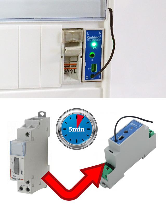 Remplacer un télérupteur par un variateur rail din Z-Wave en 5 minutes