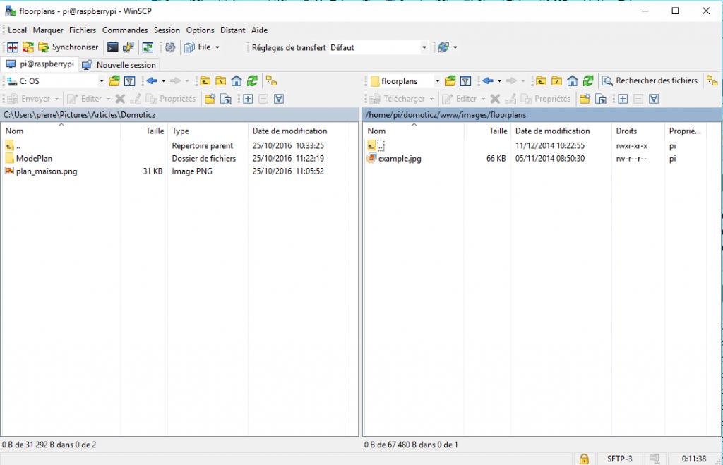 Envoi de fichier via WinSCP