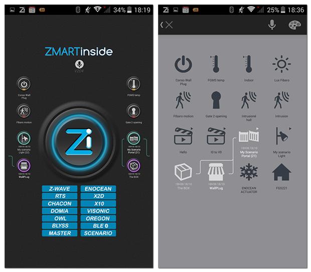 App mobile ZiHome de ZiBlue