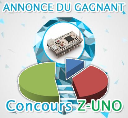 Concours Z-UNO : annonce du gagnant
