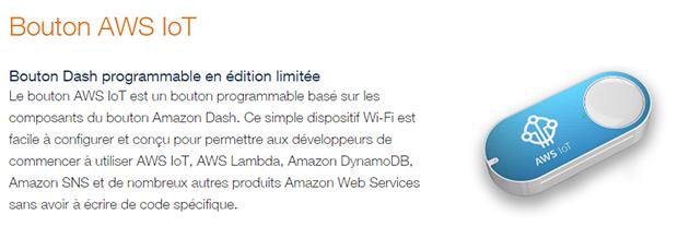 Amazon Dash : bouton AWS