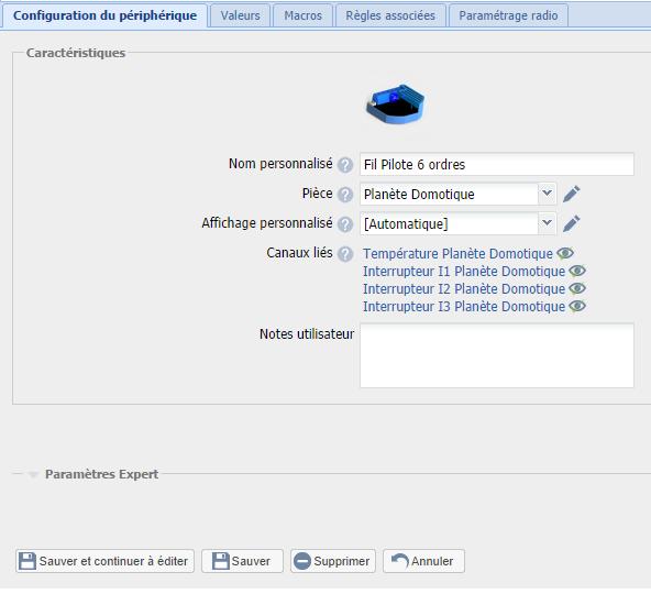 Module Qubino fil pilote dans l'eedomus : paramétrage