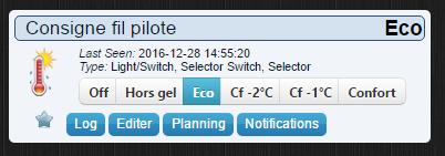 Présentation du module fil pilote dans Domoticz