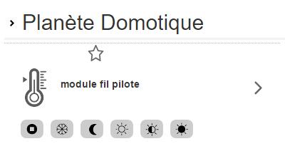 HomeLive de Orange : affichage du module fil pilote