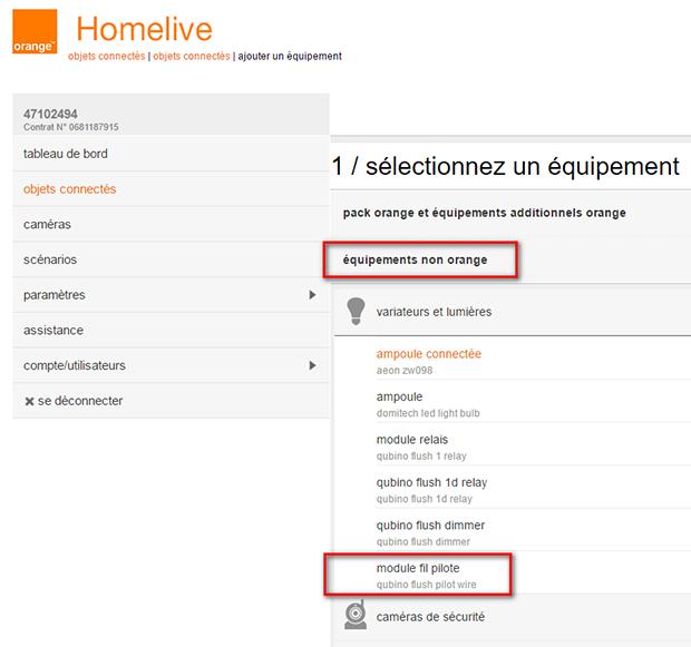 HomeLive : modélisation du module fil pilote